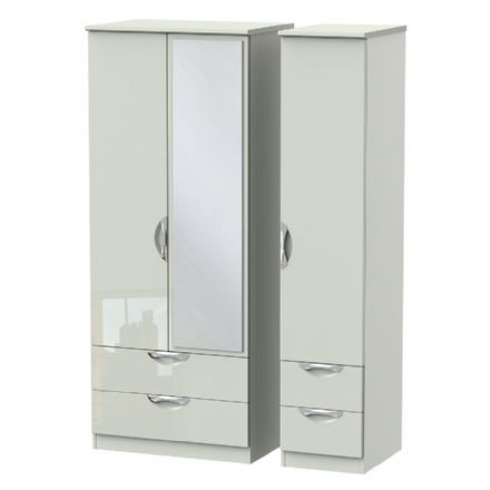 Camden Tall Triple 2 Drawer Mirror + Drawer Robe
